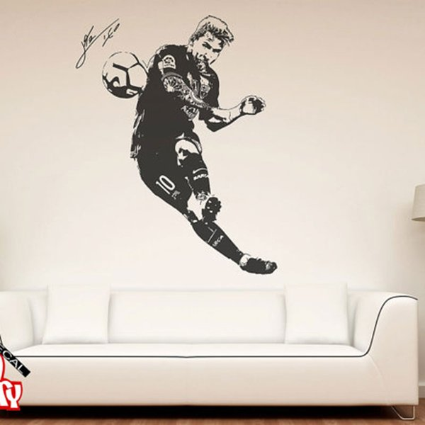 Lionel Messi 2017 Wall Decal Sticker Football Soccer Player Argentina Leo Creative Vinyl Wall Decal Mural Home Decor