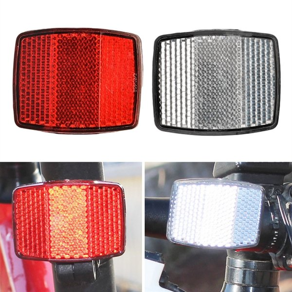 1Set Bicycle Front Rear Reflector Bike Reflective Len Cycling Safety Accessories