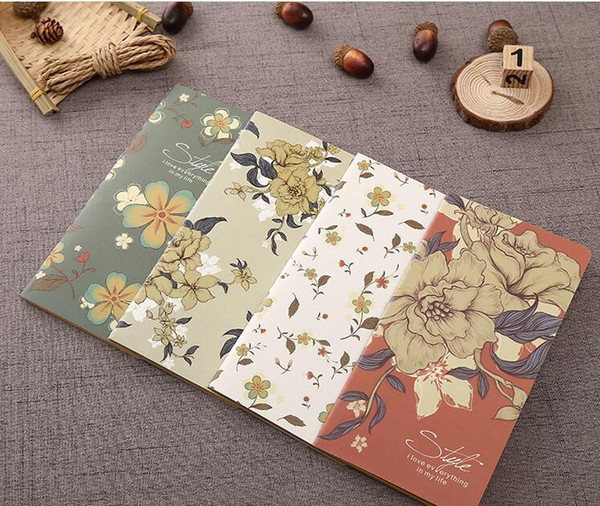 top popular B5 Vintage Kraft Paper Notebook Copy Cover Blank Page Notepad Soft Copybook Daily Paper Office & School Supplies 2021