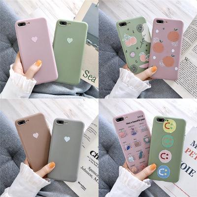 2019 new kawaii Cute cartoon for 8plus iphone x mobile phone shell XS Max/XR/iPhoneX/7p/6s soft shell silicone