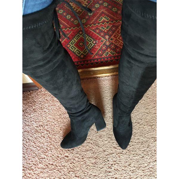 Schuhe High Heels Frauen Overknee Elastic Kleine Stiefel Frau