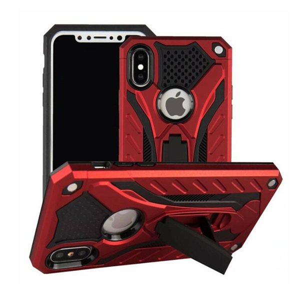 Hibrid Zırh Vaka Kickstand 2 1 Telefon Kapak Iphone Için XR XS Max X 8 Artı Samsung Note9 S9 Artı Huawei P20 Lite