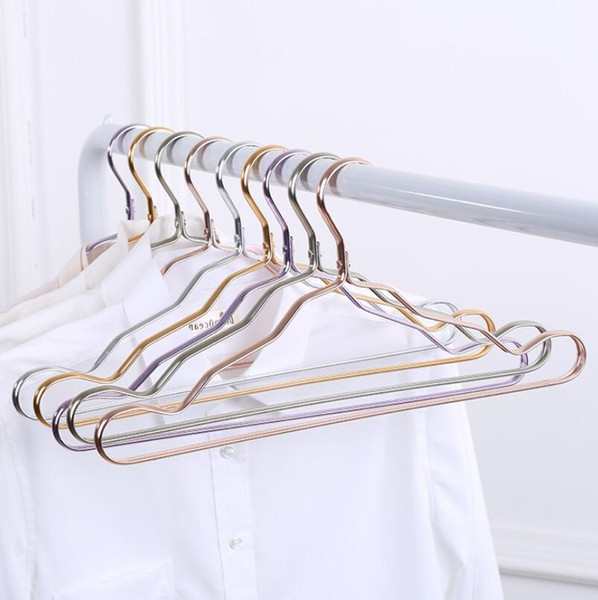 Space aluminum hanger aluminum alloy no trace clothing support household anti-skid clothes hanging windproof rust-proof clothes rack LX5071