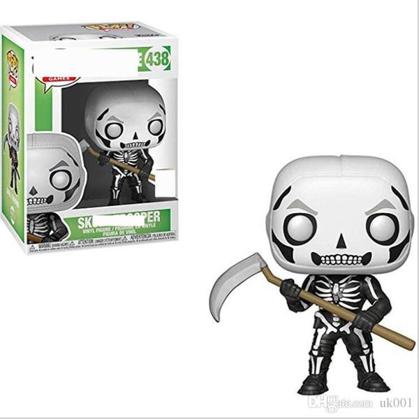 Reino Unido EEUU Funko Pop Juegos de Fortaleza cráneo Trooper Vinilo figura de acción con la caja # 438 de juguete de regalo