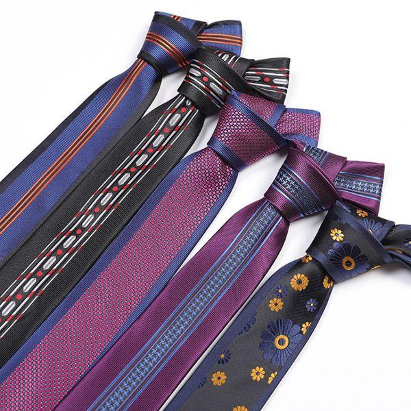 New Fashion 6cm Slim Men Silk Ties Magnificent Noble Skinny Mens Neck Ties Handmade Wedding Necktie High Quality Mens Business Ties Stripes