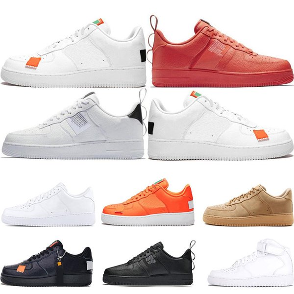 Hot Men 1 Utility Classic Black White Dunk Women Casual Shoes Red One Skateboarding High Low Cut Wheat Trainers Sports Sneakers Size 36 45 Boat Shoes