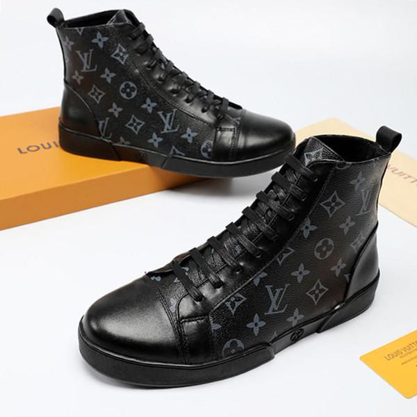 2019 модные ботинки, кроссовки, мужские кроссовки Zapatos de Hombre Морские ботинки кроссовок Ботильоны Chaussures pour hommes Стиль High-Top