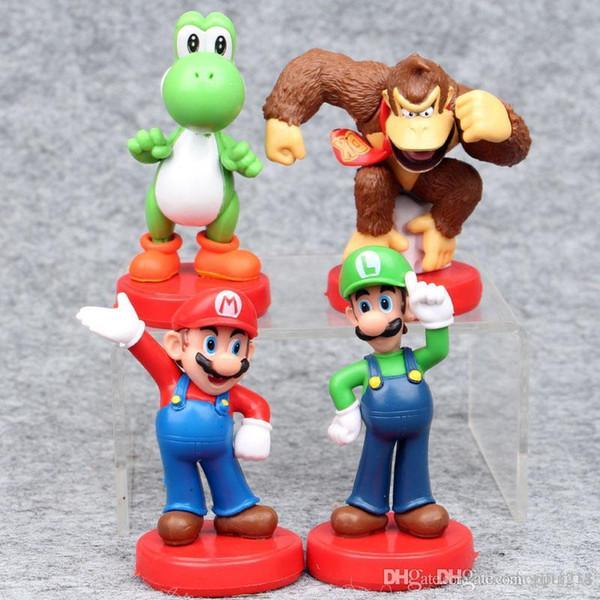 Bravo H Super Mario Gorilla model doll Hand doll ornaments #522 Popular Toy Gift for kids Free Shipping Mini toys