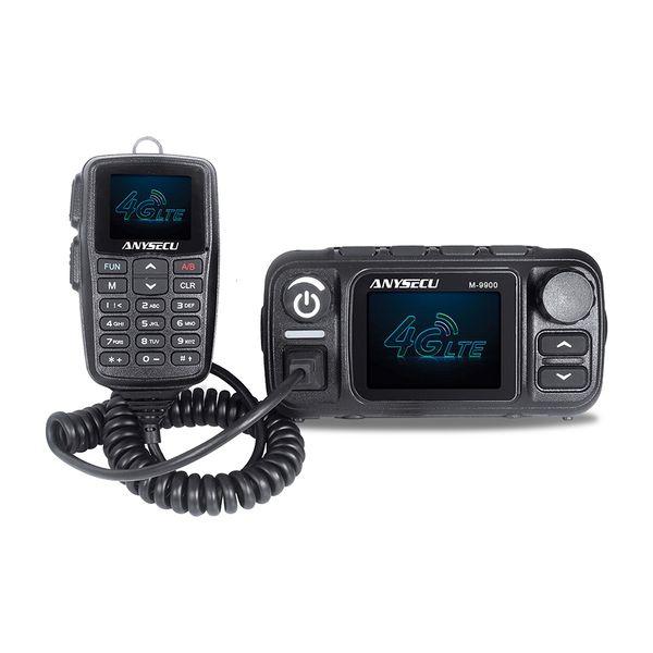 Anysecu M-9900 talkie-walkie longue portée avec GPS Fonction Ham Radio Network Véhicule Mouted 2 Carte SIM