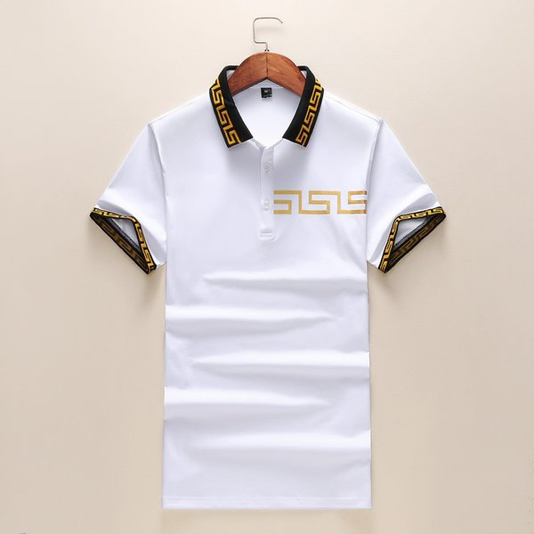 T-shirt Polo Shirt For Men Tops Mens Lapel Short Sleeve Men Cotton Splicing High Quality Leisure