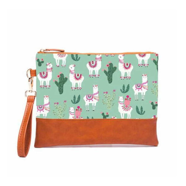 Fashion Cosmetic Bag Designer Soft Canvas Zipper Day Clutches with Handle Ladies Purse Travel Toiletry Famous Brand Wristlet Bag