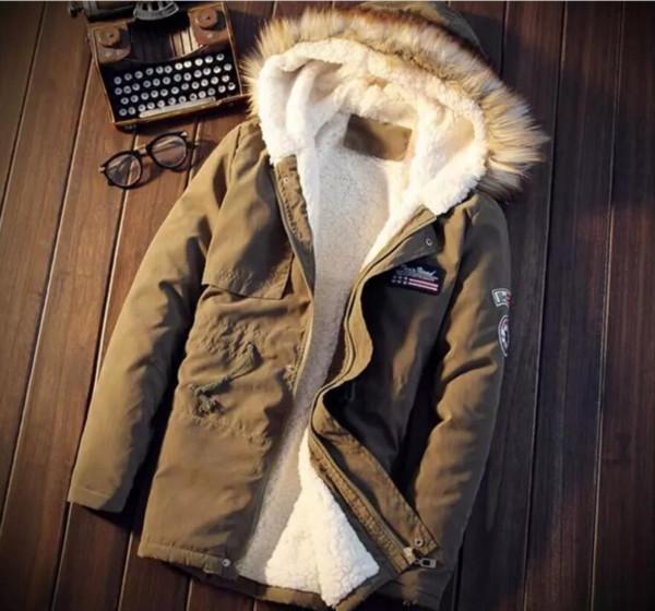 Winter Parka Men Jacket Fur Hood Winter Jackets Oversize 5xl Mens Parka Homme Navy Green Khaki Yellow Men Puffer