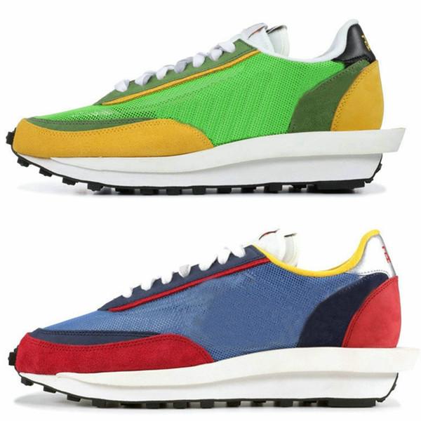 Acheter 2019 Nouveau Sacai LDV Gaufre Daybreak Entraîneurs Chaussures Pour Hommes Femmes Designer De Mode Respirant Sneakers Sport Chaussures De