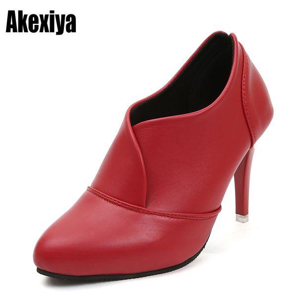 Designer Dress Shoes 2019 die neue High Heels Damen Casual Spitzschuh Kleid Slip-on Klassische Büro Frau Frühling und Herbst High Heels d357