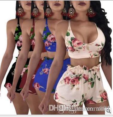 Women Two Piece Set Female Sexy Bow Print Bra Top +Mini Short Pant Ladies Underwear Outfit Femme Night Club Suits Plus Size