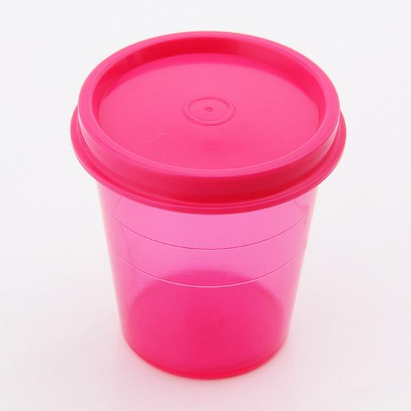 4pcs/set BBQ Seasoning Container Portable Plastic Crisper Storage Bottle Transparent Condiments Jar For Outdoor Picnic