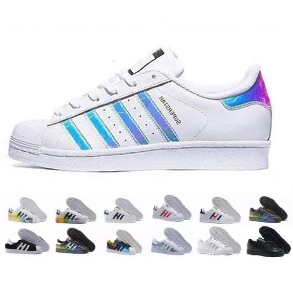 4becab94c8 ... hot adidas superstar shoes 2019 originales superstar hologram blanco  iridiscente gris oro superstars 80s pride sneakers