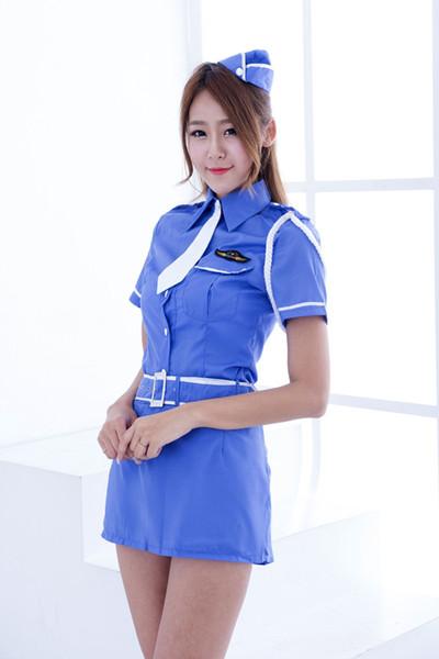 sexy Unterwäsche Uniform Blaue Uniformen Versuchung Matrosenanzug Bühnenauftritt Uniform Polizistin Uniform