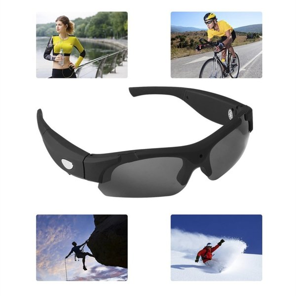 1080P HD Interchangeable Polarized-lenses Sunglasses Camera Video Recorder Sport Sunglasses Camcorder Eyewear Video Recorder #42778