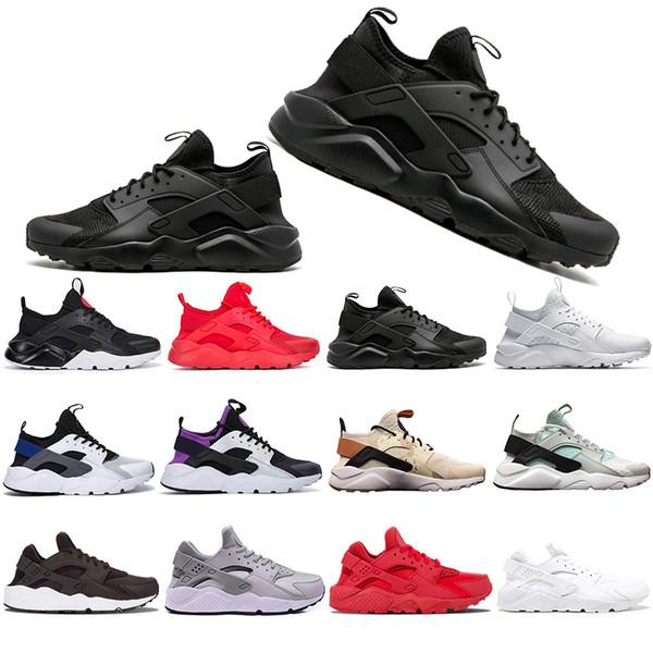 1 4 0 36 45 Nouveau gros Huarache. Chaussures de course Hommes Femmes Kaki Vert Menthe Balck Blanc Rouge Sports Athlétiques Designer Chaussures de sport Entraîneur -5