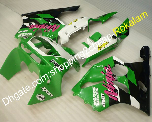 Kit carene per carrozzeria popolari per Kawasaki ZX6R ZX-6R 636 1994 1995 1996 1996 1997 ZX636 ZX 6R Moto ABS Plastica Carenatura Adatta