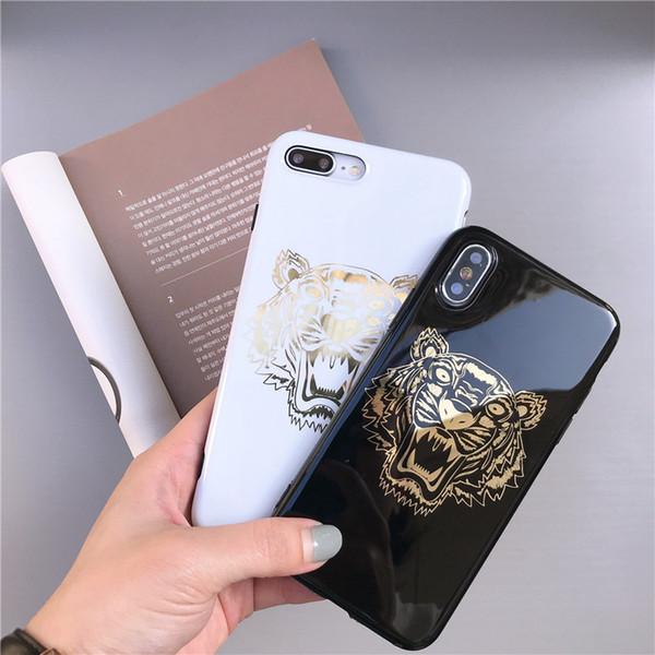 EGEEDIGI Nueva funda para teléfono Tiger estampada en caliente para iPhone Xs Max Xr Xs 7 plus 6 6S plus 8 8plus X Carcasa del teléfono móvil Ofrezca un paquete hermoso