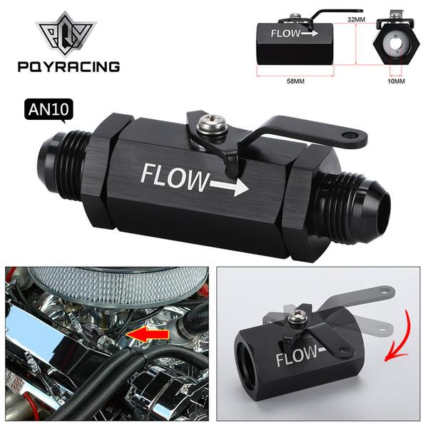 best selling PQY - AN10 10AN-10 AN Shut Off Valve Fitting Aluminum Black PQY-WLPV72-10
