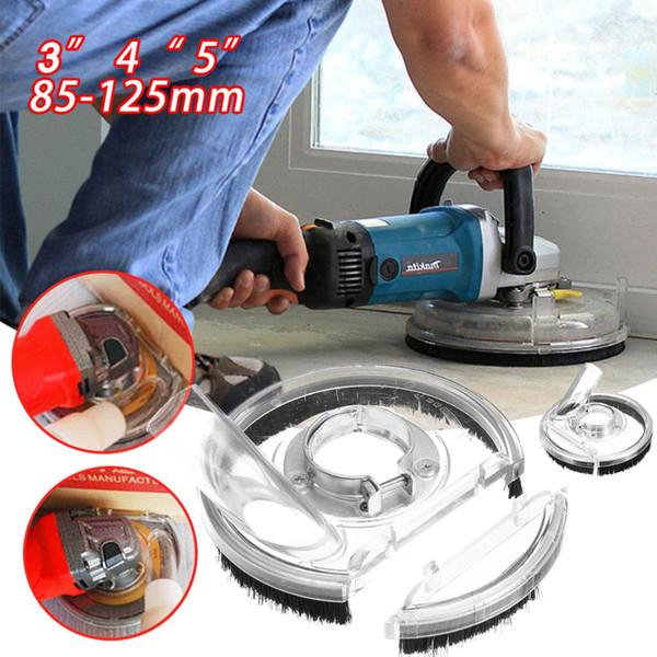 80-125mm Kit parapolvere per polvere Strumento di copertura per smerigliatura a secco per smerigliatrice angolare trasparente Accessori per smerigliatrice a mano Copertura per aspirapolvere