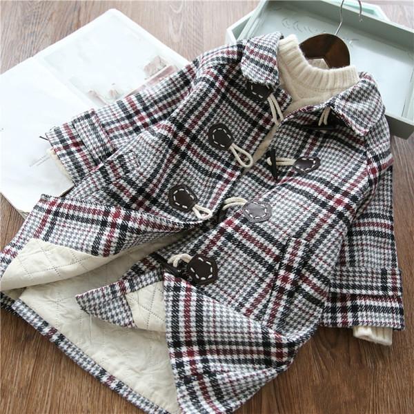 Abrigos de lana para niñas primavera otoño niños moda algodón largo rompevientos para bebés niñas niños ropa de abrigo casual chaquetas de girlt outfi