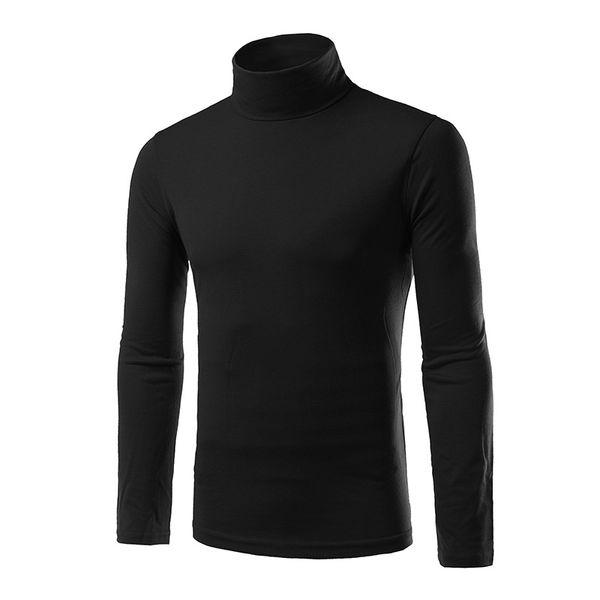 1pcs boy thermal turtleneck stretch casual long sleeve sweaters slim fashion shirt cotton mens comfortable top thumbnail