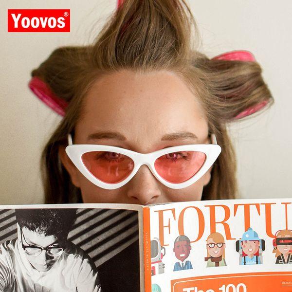 Yoovos 2019 Vintage Cat Eye Sunglasses Women Candy Color Brand Designer Triangle Sun Glasses Outdoor Goggles Oculos De Sol