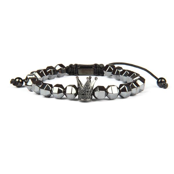 Roi reine couronne couple Bracelets son et son amitié 8 MM perles bracelet