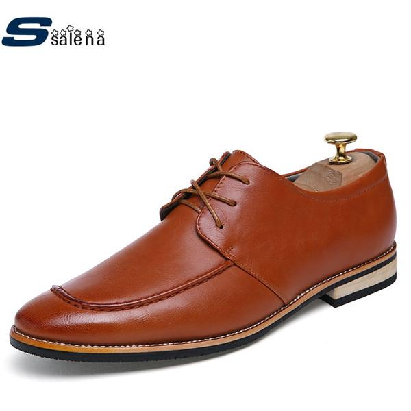 Sapatos formais homens de alta qualidade lace-up festa e casamento homens apartamentos oxfords shoes para aa20443