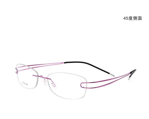 Australia Brand Rimless Brand women line ultra light titanium alloy Spectacle frame Myopia Glasses prescription clear lens eyeglass 50003
