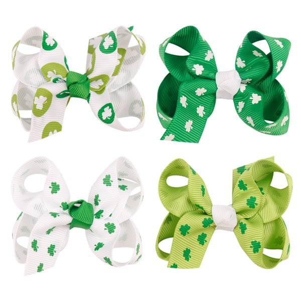 Girl Grosgrain Ribbon Boutique Hairpins Hair bows With Alligator Clips Pinwheel Bow For Children kids hairbow Accessorie