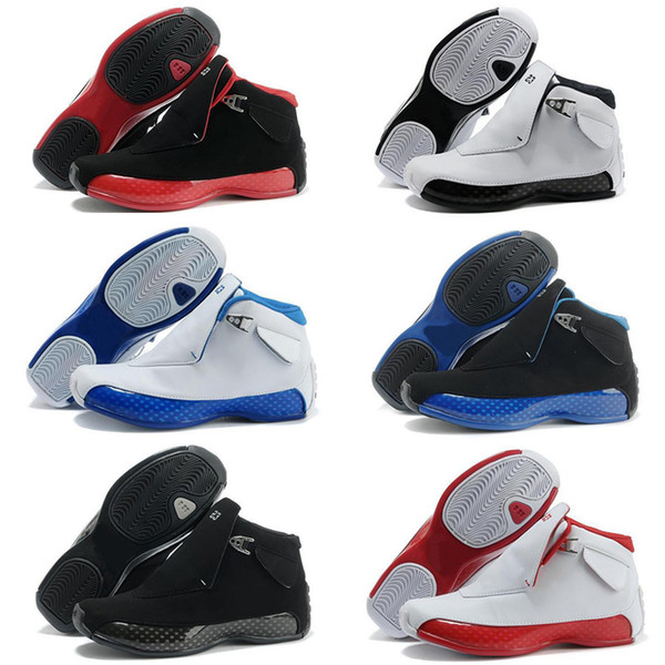 2019 18 Gym Red Black Blue Royal White Metallic Silver for Mens Basketball Shoes classic 18s XVIII Mid Athletic Sport Sneakers Size 41-47