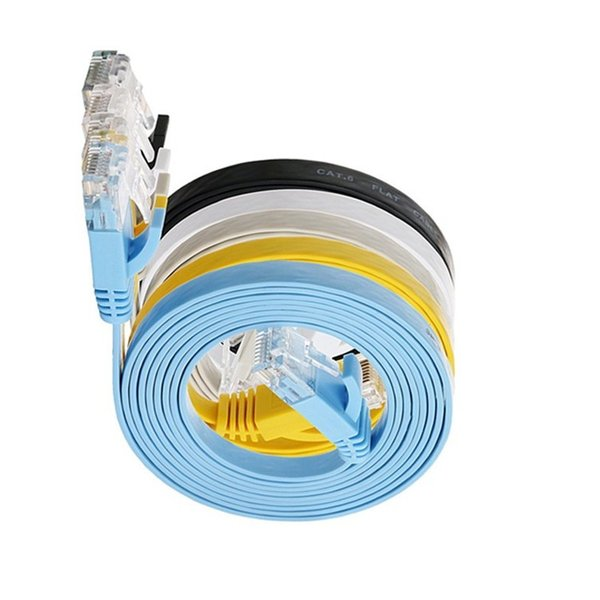 80m flat cable utp GB rj45 six interface cat6 flat network cable 0692