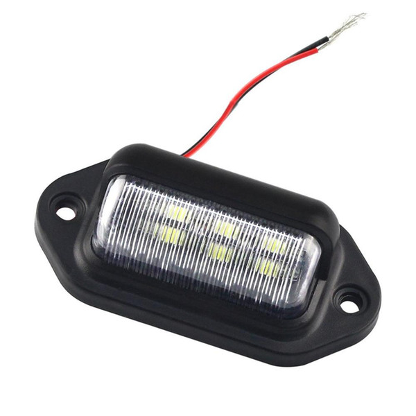 1Pcs DC 12V Car Rear Trunk Switch Assembly License Plate Lamp Warm White Light Reverse Rear License Plate Lamp