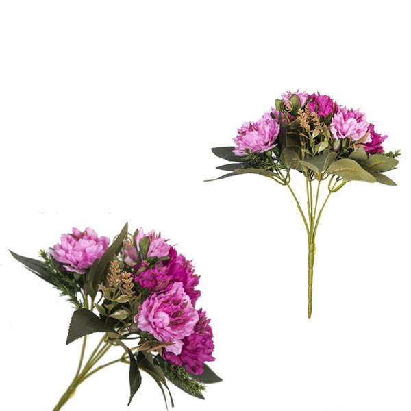 Beş Başkanları Ev Odası Vazo Dekor için Yapay Şakayık Simüle Çiçekler