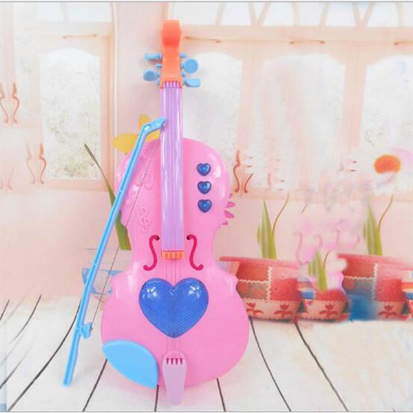 Crianças aprendem corda 4 Lute Mini pode tocar instrumentos musicais elétricos Violino Kids Brinquedos Instrumentos musicais educativos para crianças