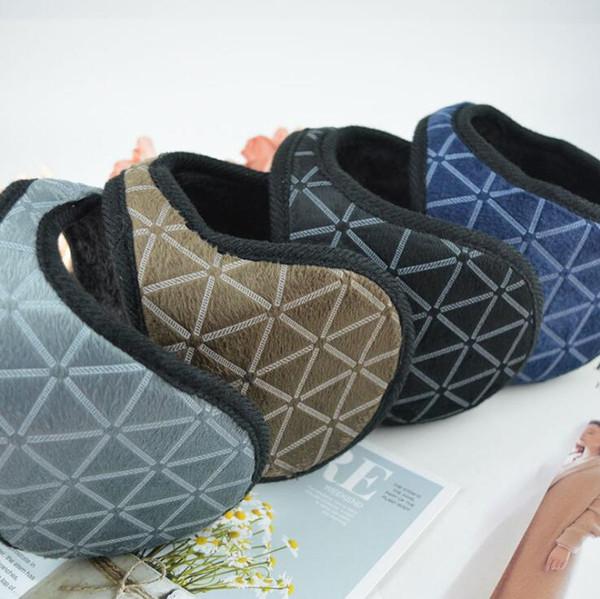 Heating Earmuffs Lattice Earmuffs Men and Women Lattice Fashion Korean Edition Simple Student Wind-proof