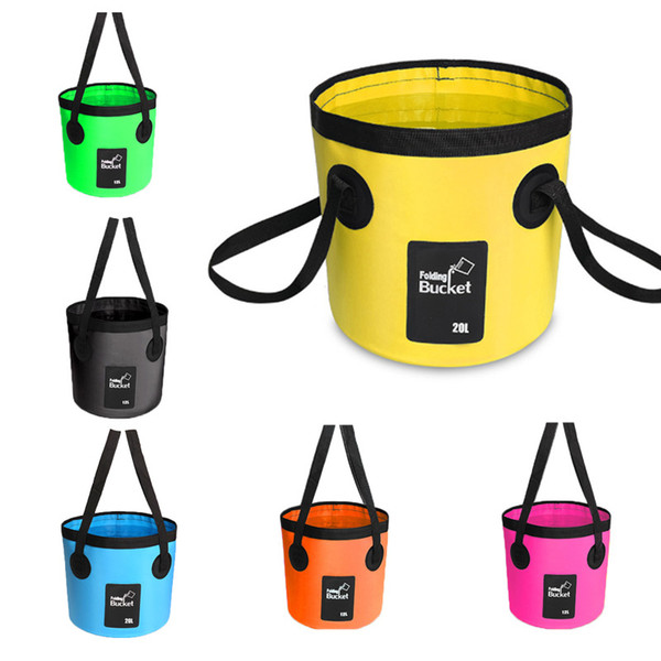 Multifunctional Foldable Bucket Outdoor Wash Basin Bucket For Camping Hiking Fishing Traveling Storage Containers Box Water Buckets M238Y