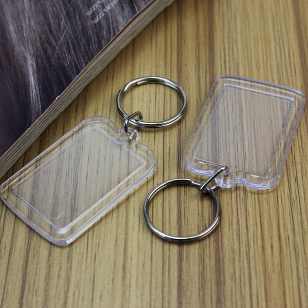 Mode Simple Transparent Cadre Photo Porte-clés Acrylique Porte-clés Conçu Pour Les Dames Partie Cadeau Bijoux Accessoires