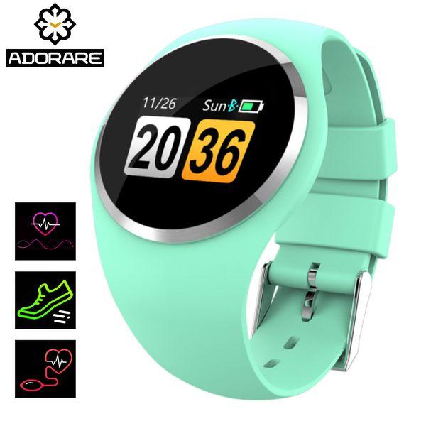 ADORARE Q1 Bluetooth Smart Watch Men Women Stainless Steel Waterproof Wearable Device Smartwatch Bracelet For Xiaomi iphone