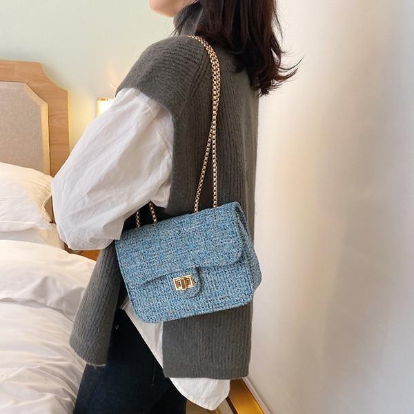 2019 New Women's Shoulder Bags wild Woolen Messenger Bag Fashion High Quality Crossbody Bag Mobile Phone Bags Small Flap