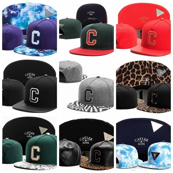 2019 Casual Adjustable Cayler & Sons Baseball Caps Casquettes chapeus C letter leather leopard zebra brim men women hiphop Snapback Hats