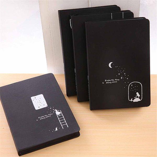 Carnet de notes noir avec carton noir relié cartonné Page s carnet de croquis carnet de notes pour étudiants carnet de notes carnet de croquis