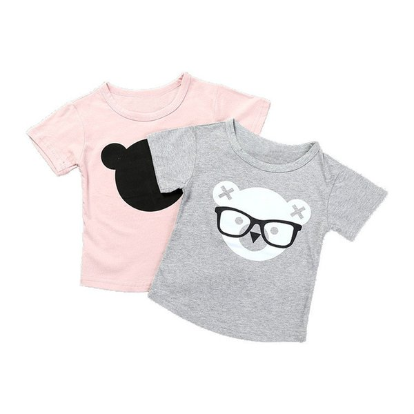 Baby Boy T Shirts For Children Clothing 2019 Brand Summer Clothes Girls Short Sleeve Bear Print 100% Cotton Kids Tops Tee