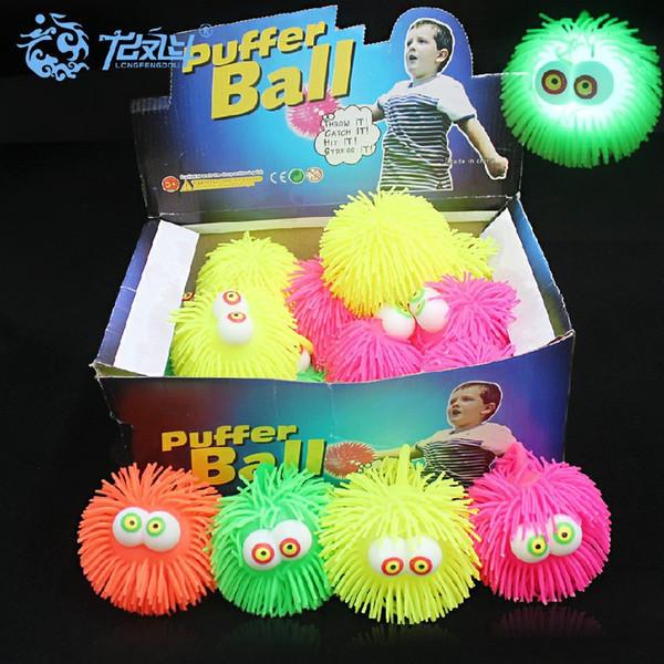 EN 2019 Fourniture balle de laine de caoutchouc 10 CM boule de laine œil convexe TPR boule de laine flash jouets en plastique souple en plastique jouets en plastique DHL
