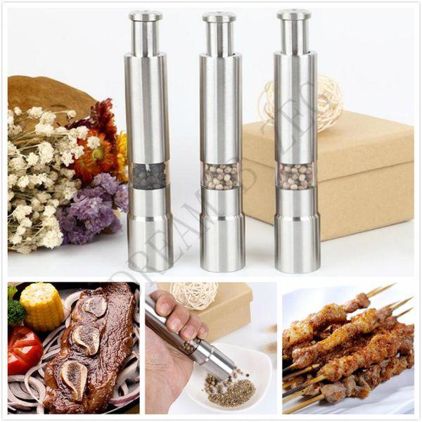 best selling Stainless Steel Salt Pepper Grinder Portable Manual Pepper Muller Seasoning Grinding Milling Machine Mini Cooking Tools kitchen Tools